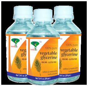 Pc vedic Vegetable Glycerine (non gmo-gluten free) 200g (Pack Of 3)