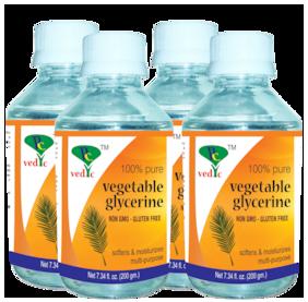 Pc vedic Vegetable Glycerine (non gmo-gluten free) 200g (Pack Of 4)