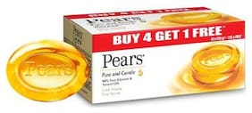 Pears Pure & Gentle Bathing Bar, 125 g (Buy 4 & Get 1 Free)