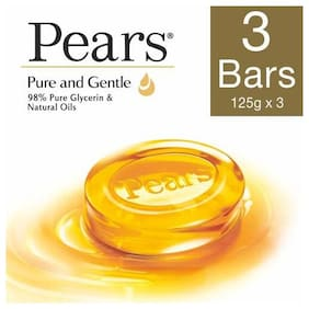 Pears Soap Bar Pure & Gentle 125 Gm Pack Of 3
