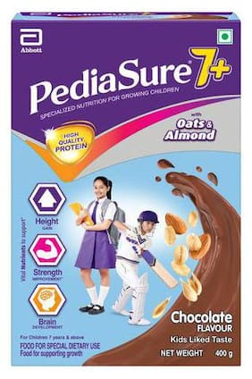 Pediasure 7+ Specialised Nutrition Drink Powder For Growing Children - Chocolate Flavour 400 g