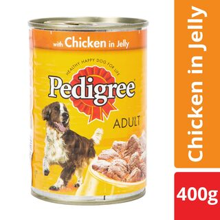 Buy Pedigree Adult Dog Food Chicken In Jelly 400 Gm Can Online