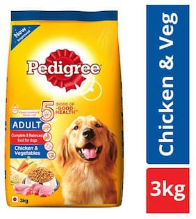 Pedigree Dry Dog Food - Chicken & Vegetables  for Adult Dogs 3 kg