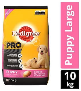 Pedigree Dry Dog Food - PRO Expert Nutrition for Large Breed Puppy 3-24 months 10 kg