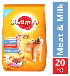 Pedigree Dry Dog Food - Meat & Milk, for Puppy 20 kg
