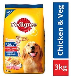 Pedigree Dry Dog Food - Chicken & Vegetables  for Adult Dogs 3 kg