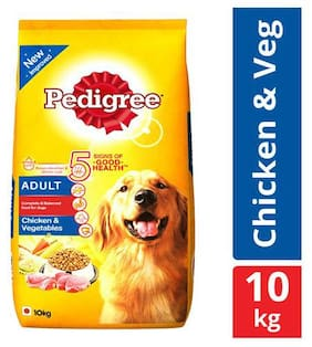 Pedigree Dry Dog Food - Chicken & Vegetables  for Adult Dogs 10 kg