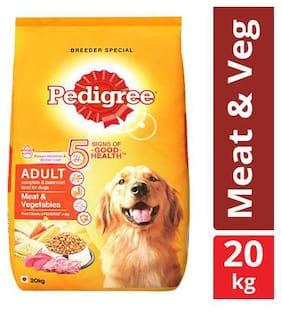 Pedigree Meat & Vegetables Dry Dog Food for Adult Dogs 20 kg