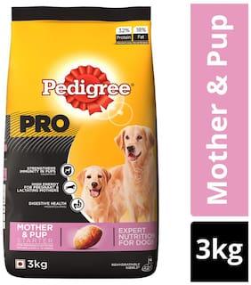 Pedigree PRO Expert Nutrition Starter for Lactating/Pregnant Mother & Pup (3-12 Weeks), Dry Dog Food, 3 kg
