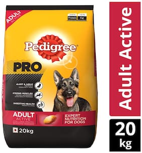 Pedigree PRO, EXPERT NUTRITION for Dogs (Dry Food for Active Adult Dogs, 18 months onwards), 20 KG