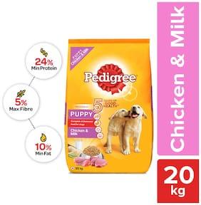 Pedigree Puppy, Chicken & Milk Dry Dog Food, 20 kg