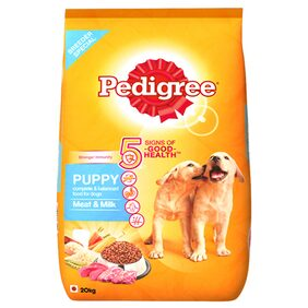 Pedigree Puppy Dog Food Meat & Milk  20 kg