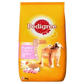 Pedigree Puppy Dog Food Chicken & Milk 15kg