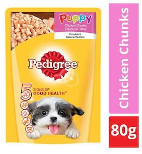 Pedigree Wet Dog Food - Chicken and Rice  for Puppy 80 g