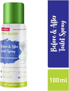 PeeBuddy Toilet Seat Sanitizer   Before and After Toilet Spray/Deodorizer and Disinfectant - 100 ml