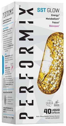 Performix SST Glow with Capsimax, Energy, Metabolism, Focus, Skincare, Fat Burner 40 Capsules