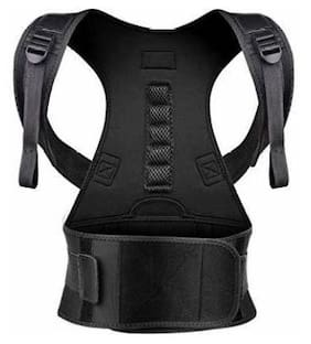 Perify Posture Corrector Shoulder Back Support Belt Posture Corrector Therapy Shoulder Belt for Lower and Upper Back Pain Relief Free Size (Pack Of 1)