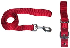 Pet Club51 High Quality Stylish Dog Collar And Leash Without Padding I1 Inch