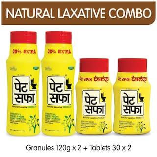 Pet Saffa Constipation Relief Combo - I (Powder & Tablets)