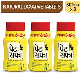 Pet Saffa Constipation Tablets 30Tabs (Ayurvedic) - Helpful in Constipation,Gas (Pack of 3)