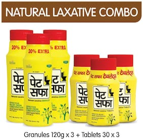 Pet Saffa Constipation Relief Combo - Ii (Powder & Tablets)