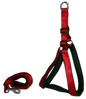 Pethub High Quality And Stylish Nylon Dog Harness Large 1.25 Red
