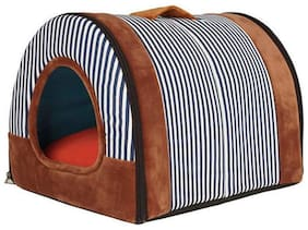 Pets Empire Cat Puppy Tent Cave Bed Puppy Sleeping House Cat House Bed Cat 2 in 1 Self-Warming Kennel Nest Bed Warm Cushion for Small Cats/Puppies/Rabbits (Design & Color May Vary)