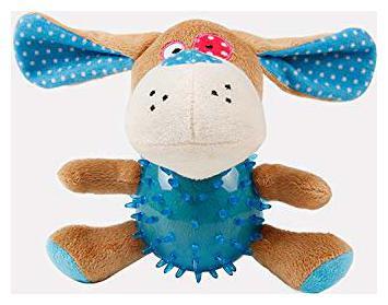 Pets Empire Elite Plush Dog Toys Pet Puppy Chew Plush Cartoon Dog Animals TPR Body Dog Bite Toy;Pcs 1