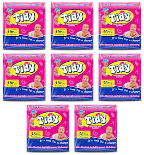 PH Tidy Baby Diapers Pants Large 36 Pcs ( Pack of 8)