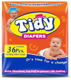 PH Tidy Baby Diaper Extra large 36 Pcs ( Pack of 1)
