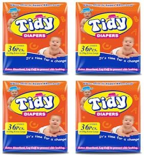PH Tidy Baby Diaper Extra large 36 Pcs ( Pack of 4)