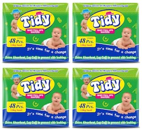 PH Tidy Baby Diapers Pants Small 48 Pcs ( Pack of 4)