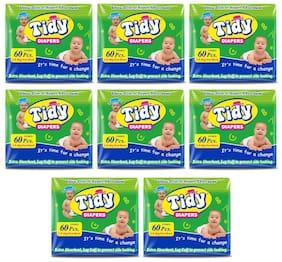 PH Tidy Baby Diaper New Born 60 Pcs ( Pack of 8)