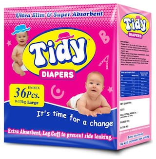PH Tidy Baby Diapers Pants Large 36 Pcs ( Pack of 1)