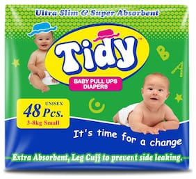 PH Tidy Baby Diapers Pants Small 48 Pcs ( Pack of 1)
