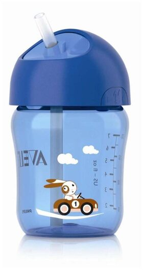 Philips Avent Straw Cup 260 ml - 12 Months+ (Blue)