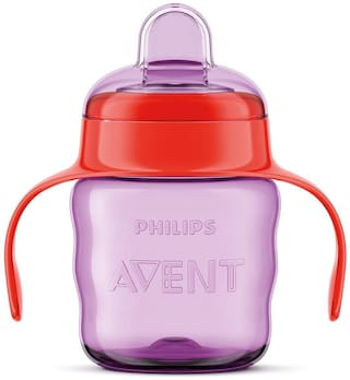 Philips Avent Classic Soft Spout Cup  200ml (Pink/Purple)