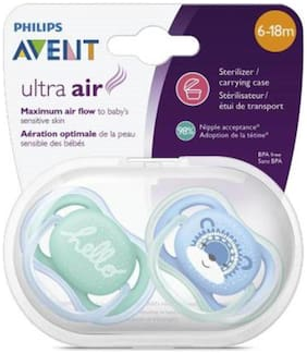 Philips Avent Pacifier For Boy, 6-18 Months, Soother (Blue, Green)(Pack of 2)