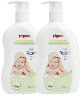 Pigeon Baby Wash 500 ml Combo