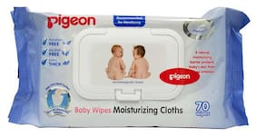 Pigeon Baby Wipes Moisturizing Cloth 70 Sheet