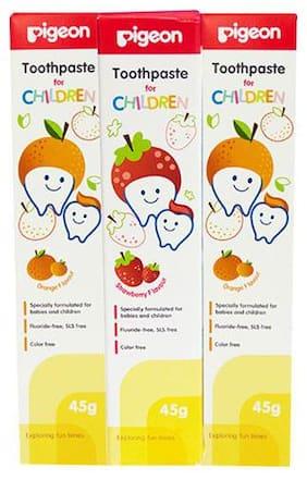 Pigeon Children Toothpaste Combo - Strawberry & Orange 135 ltr