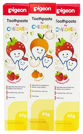 Pigeon Children Toothpaste Combo - Strawberry & Orange 135 gm