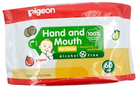 Pigeon Hand & Mauth Wipes 60Pc