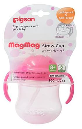 Pigeon Mag Mag Spout Cup Pp - Hanging Type, Pink 200 ml