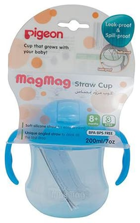 Pigeon Mag Mag Straw Cup - Sky Blue 200 ml