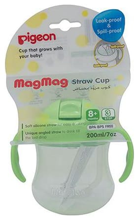Pigeon Mag Mag Straw Cup - Green 200 ml