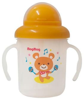 Pigeon Magmag Training Straw Sipper Cup - Teddy  8 M+ 180 ml