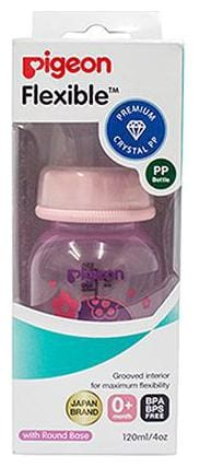 Pigeon Peristaltic Clear Nursing Bottle Rpp - Girl  Pink 120 ml