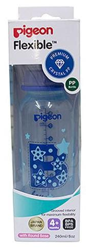 Pigeon Peristaltic Clear Nursing Bottle Rpp - Blue  Boy 240 ml