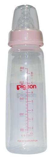 Pigeon Peristaltic Nursing Bottle Kpp - With 2-Nipple  Medium  Pink 240 ml
